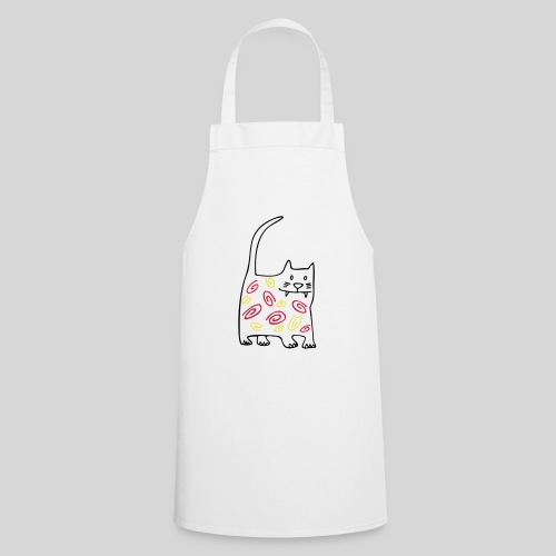 schöne dicke katze - Kochschürze