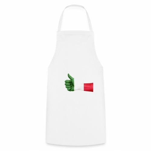 Italienische Flagge auf Daum - Kochschürze