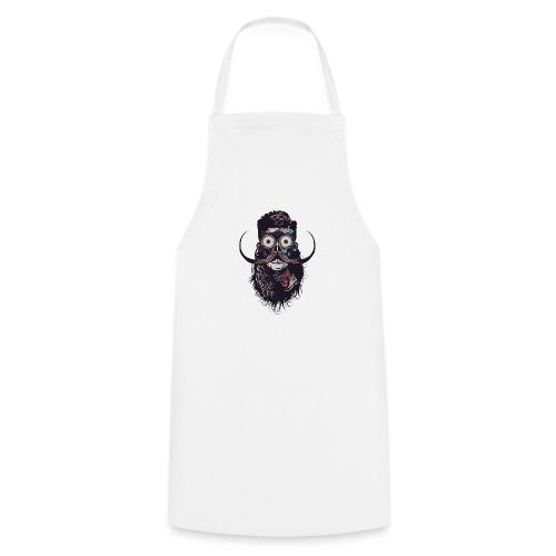 hipster tete de mort crane barbu skull moustache b - Tablier de cuisine