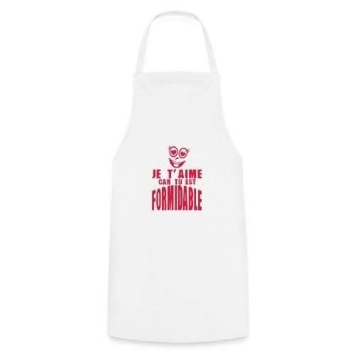 je aime car formidable smiley amoureux - Tablier de cuisine