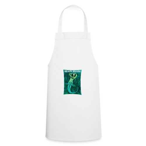 Vintage Pin-up Beach Ready Mermaid - Cooking Apron