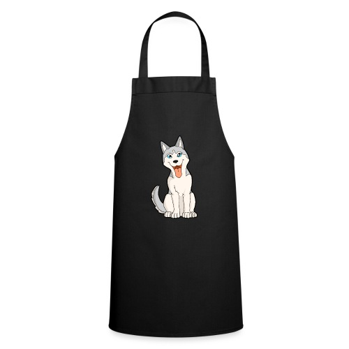 Husky grigio occhi azzurri - Grembiule da cucina
