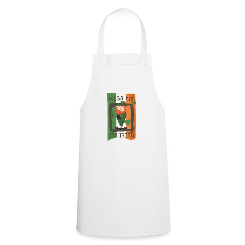 St. Patrick's Day Leprechaun - I'm Irish - Kiss Me - Cooking Apron