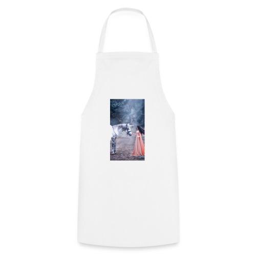 Unicornio con mujer bella - Delantal de cocina