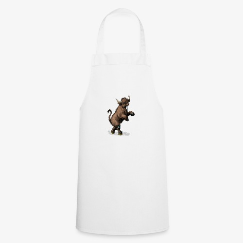 Highland Cow on roller skates - Cooking Apron