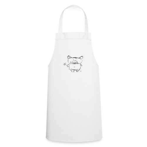 pig with the flower - Cooking Apron