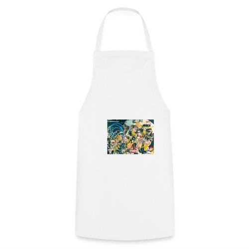 art graffiti abstract vintage - Delantal de cocina