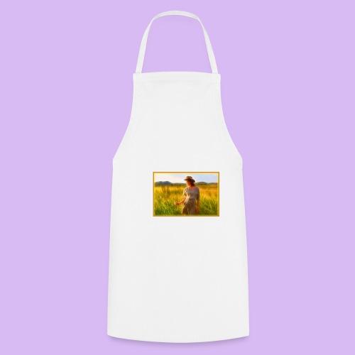 Donna tra gli steli d' erba - Grembiule da cucina