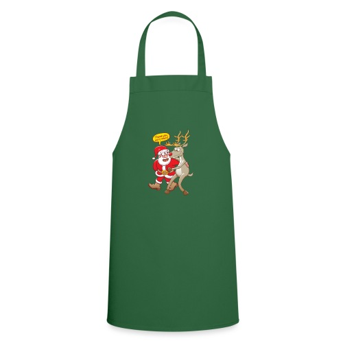 Santa thanks deeply to his red-nosed reindeer - Cooking Apron