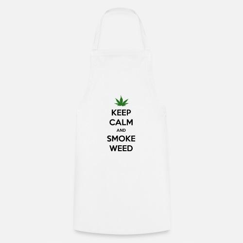 Keep Calm and Smoke Weed (Blijf Kalm en Rook Wiet) - Keukenschort