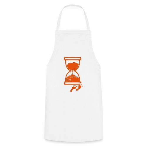 Tracciato logo facciotardi vettoriale con sfondo - Grembiule da cucina
