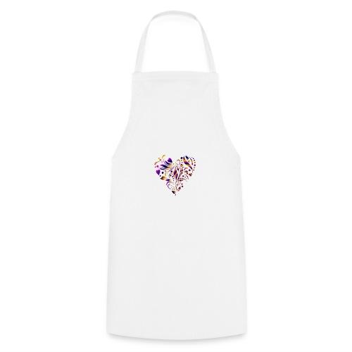motif coeur multicolor - Tablier de cuisine