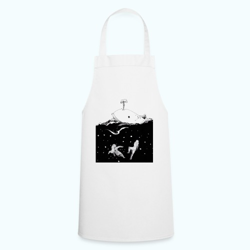 I LOVE WHALES real drawing - Cooking Apron
