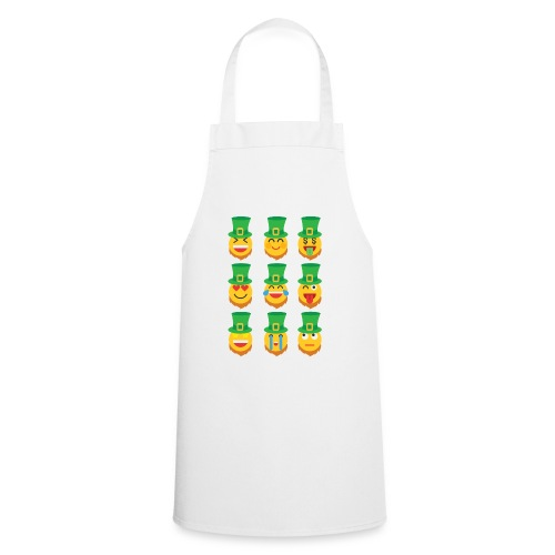 Awesome Leprechaun Emoji St. Patty's Green Feast B - Cooking Apron