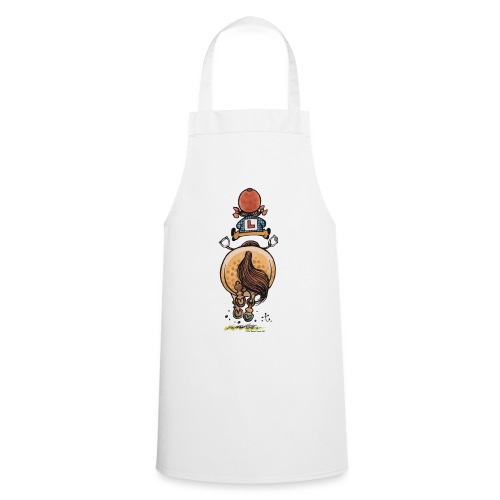 Thelwell Funny Riding Beginner Illustration - Cooking Apron