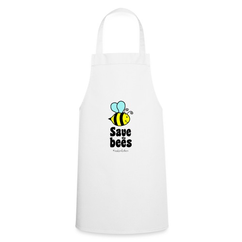 Bees9-1 save the bees | Bienen Blumen Schützen - Kochschürze