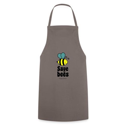 Bees9-1 save the bees | Bienen Blumen Schützen - Cooking Apron