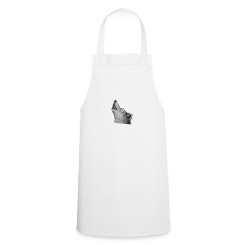 Howling wolf design wolfs head howl - Cooking Apron