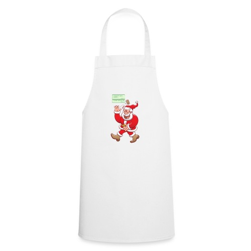 Santa laughs fake texts of good behavior - Cooking Apron