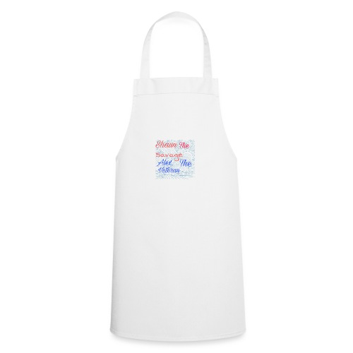 Grey hoodie with YouTube logo on back - Cooking Apron
