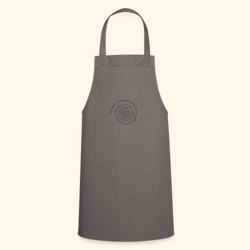 SPIRAL TEXT LOGO BLACK IMPRINT - Cooking Apron