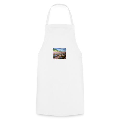LA CUEILLETTE DES ROSES A GRASSE AUTREFOIS 1mx81 2 - Tablier de cuisine