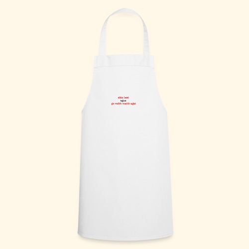 Good bye and thank you - Cooking Apron