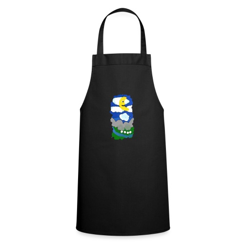 smiling moon and funny sheep - Cooking Apron