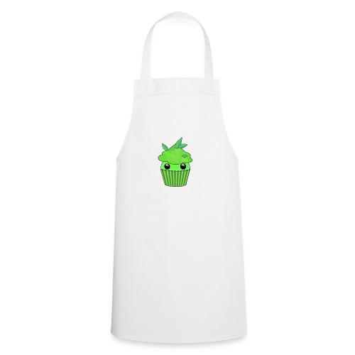 Green Kawaii Cupcake with mint or green tea leaf - Cooking Apron