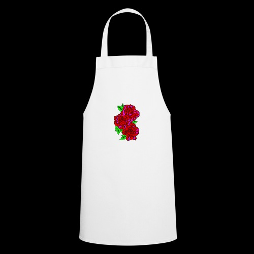Roses with a kente design - Cooking Apron
