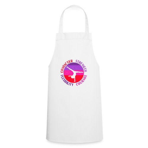 Girls Gymnastics Quote - Character Strength and - Cooking Apron