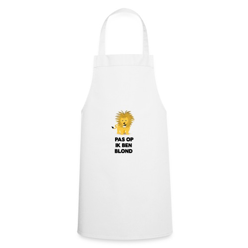 Pas op ik ben blond een cartoon van blonde leeuw - Keukenschort