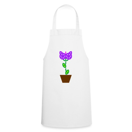 The Flower Of Life - Sacred Plants. - Cooking Apron