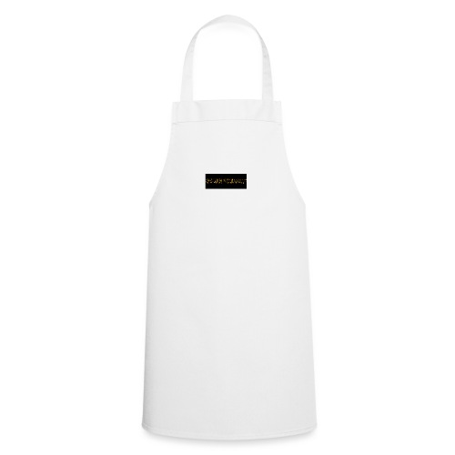 orange writing on black - Cooking Apron