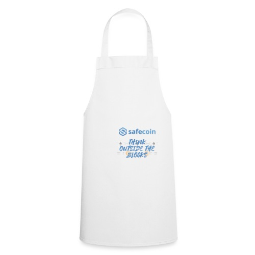 SafeCoin; think outside the blocks (blue) - Cooking Apron