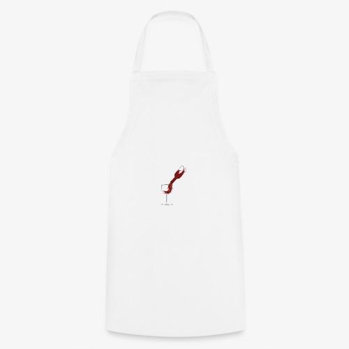 Weinglas - Kochschürze