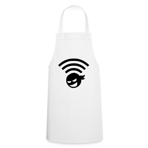 WiFi Wlan Ninja Symbol - Kochschürze