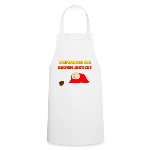 Flying Bum (diagonal) - with text - Cooking Apron