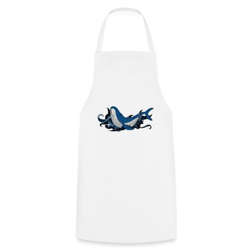 Doodle ink Whale - Grembiule da cucina