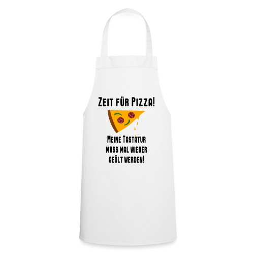 Pizza Essen Tastatur Computer Freak Nerd Spruch - Kochschürze