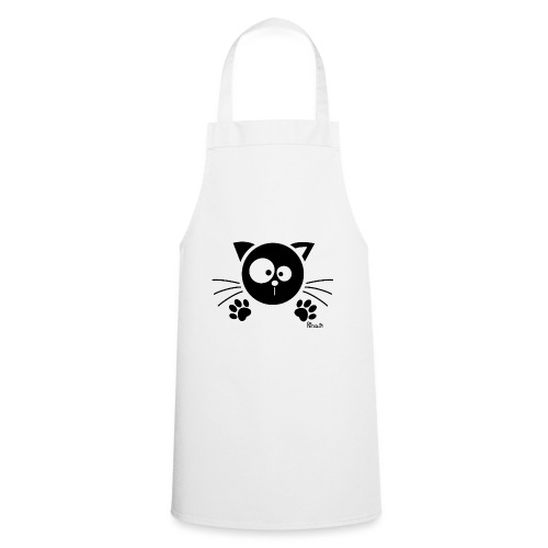 Chat noir Rigolo Drôle Humour Chaton Cat Mignon - Tablier de cuisine