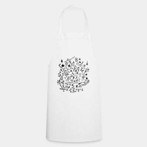 CHRISTMAS DOODLES - Cooking Apron