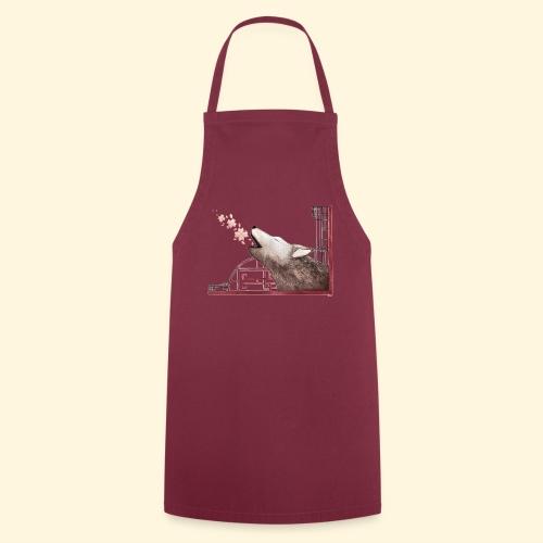 Le chant du loup aux fleurs de cerisier - Tablier de cuisine