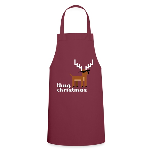 Christmas Xmas Deer Pixel Funny - Cooking Apron