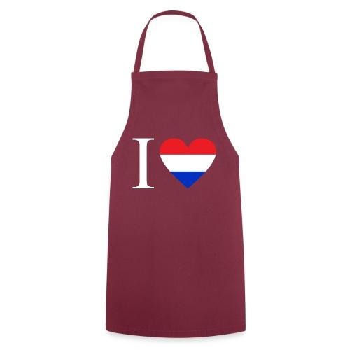 Ik hou van Nederland | Hart met rood wit blauw - Keukenschort
