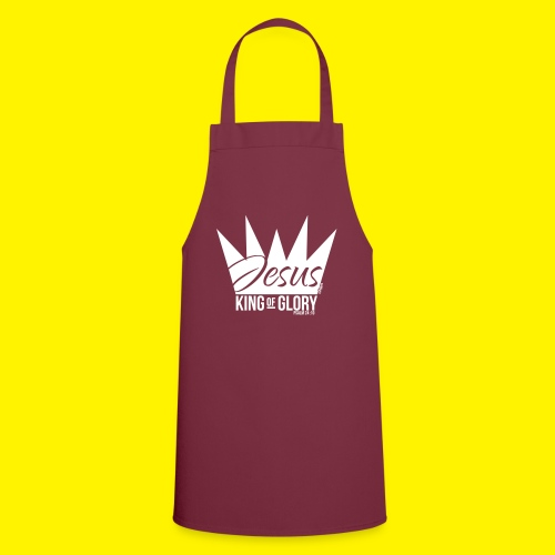 JESUS KING OF GLORY // Psalm 24:10 (WHITE) - Cooking Apron