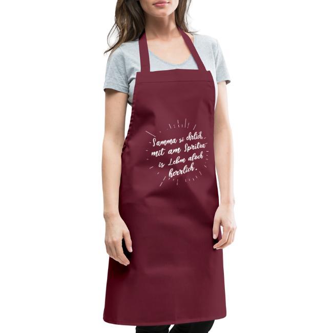 Vorschau: Samma si ehrlich mit am Spritza is Lebm herrlich - Kochschürze