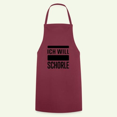 Ich will Schorle schwarz - Kochschürze