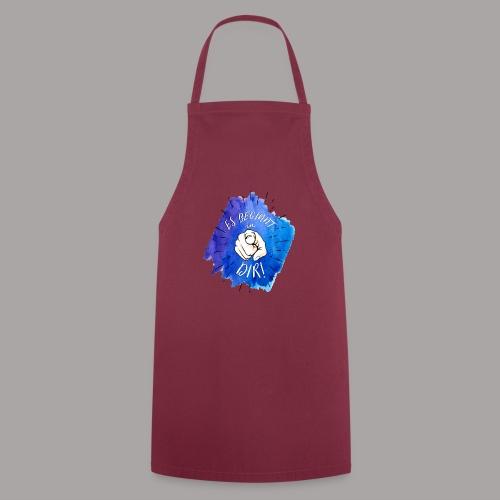 shirt blau tshirt druck - Kochschürze