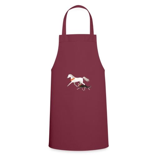 Saluki und Pferd - Kochschürze